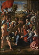 Raphael painting of Christ Falling on the Way to Calvary from 1514–1516