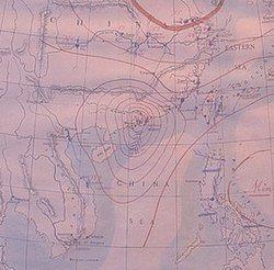 1906年9月18日上午10时的东亚地面天气图