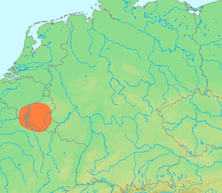 阿登地区的位置