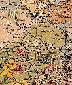 威斯特法伦王国(绿色)