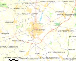 永河畔拉罗什城区地图