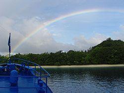 October 2007 rainbow over Tulagi Island