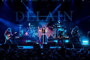 Delain performing at Epic Metal Fest 2015