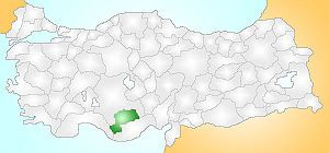 Karaman Turkey Provinces locator.jpg