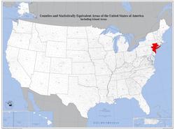 Location of New York metropolitan area
