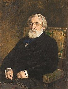 Turgenev, by Ilya Repin, 1874