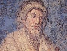 Late antique ceiling painting c. 330, possibly of Apuleius