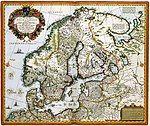 Tabula exactissima Regnorum SUECIAE et NORVEGIAE nec non MARIS UNIVERSI ORIENTALIS, Terrarumq- adjacentium summo studio ab