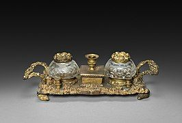 England or America, 19th century - Inkwell Set - 1961.172 - Cleveland Museum of Art