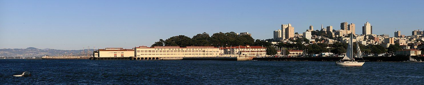 Fort Mason Center and downtown San Francisco.