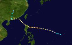 超强超强台风英格丽德的路径图