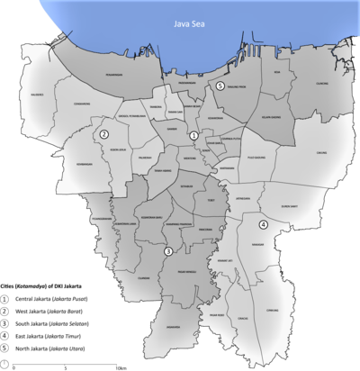 雅加達行政區劃