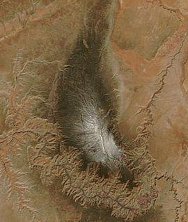 Sattelite view of the Kaibab Plateau