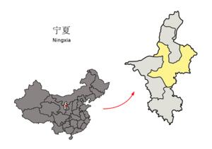 图中高亮显示的是吴忠市