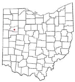 在俄亥俄州的位置