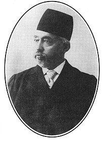 Photo of Mortez Qholi Khan Hedayat (Sani-al-dowleh) the First Chairman of the First Majlis Shora Melli.jpg
