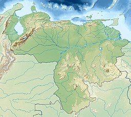 玻利瓦尔峰在委内瑞拉的位置