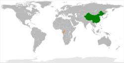 China和Republic of Congo在世界的位置