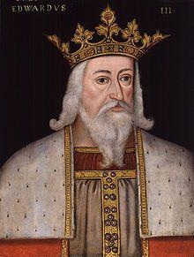Early modern half-figure portrait of Edward III in his royal garb