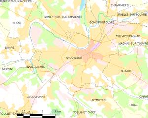 昂古莱姆城区地图
