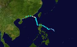 强台风莲花的路径图