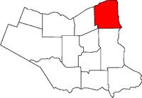 Location of Niagara-on-the-Lake in the Niagara Region