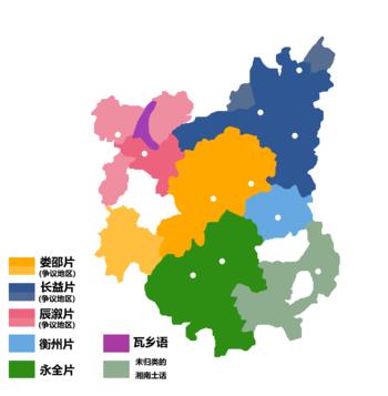 湘语区内的代表方言点