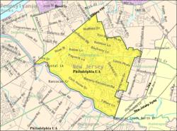 Census Bureau map of Willingboro Township, New Jersey