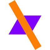 Dual triangular dipyramid net.png