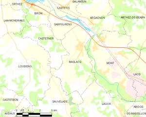 马斯拉克市镇地图
