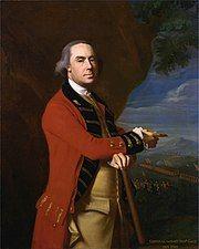 Portrait of the British commander-in-chief, Sir Thomas Gage in dress uniform.