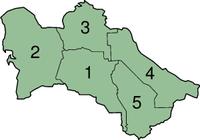土库曼斯坦行政区划