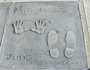 Hand and foot prints in cement dated of June 6, 2007