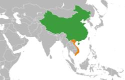 China和Vietnam在世界的位置