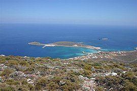 基西拉岛的主港