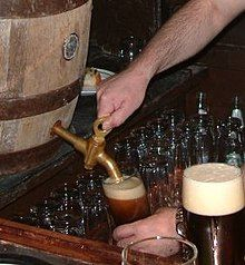 A beer being poured