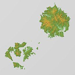 Oki Islands Relief Map, SRTM.jpg