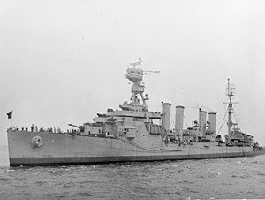 USS Milwaukee (CL-5) off New York City, circa in August 1943 (19-N-51513).jpg