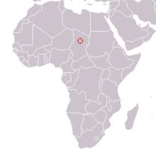 Bahr el Ghazal, Chad ; Australopithecus bahrelghazali 1995 discovery map.png