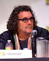 Jack Bender sitting at a microphone.
