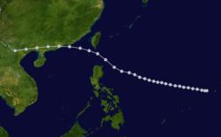 1923年癸亥风灾的路径图