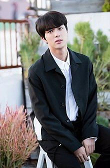 Jin for BTS 5th anniversary party in LA photoshoot by Dispatch, May 2018 08.jpg
