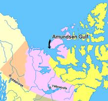 Map indicating Amundsen Gulf, Northwest Territories, Canada.png