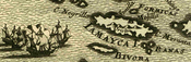 Old map of Jamaica