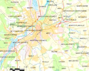 梅斯城区地图