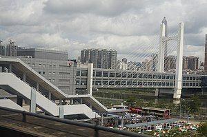 落马洲站与过境行人天桥(2016年6月)