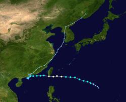 台风帕布的路径图