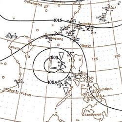 1900年11月8日的天气图