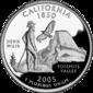 California quarter dollar coin