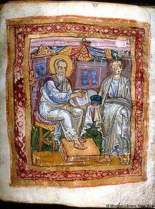 Apostle John and Marcion of Sinope, from JPM LIbrary MS 748, 11th c.jpg